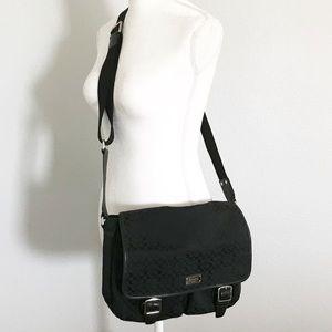 Coach black crossbody messenger bag